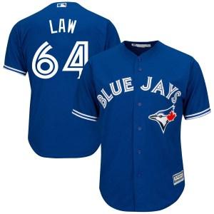 Derek Law Toronto Blue Jays Youth Replica Cool Base Alternate Majestic Jersey - Royal Blue