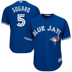 Eric Sogard Toronto Blue Jays Youth Replica Cool Base Alternate Majestic Jersey - Royal Blue