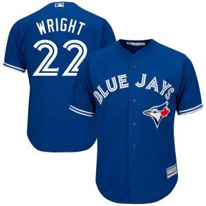 Brett Wright Toronto Blue Jays Youth Replica Cool Base Alternate Majestic Jersey - Royal Blue