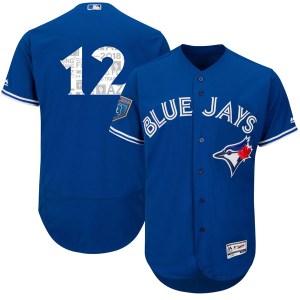 Roberto Alomar Toronto Blue Jays Youth Authentic Flex Base 2018 Spring Training Majestic Jersey - Royal
