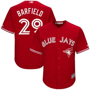 Jesse Barfield Toronto Blue Jays Youth Replica Cool Base Alternate Majestic Jersey - Scarlet
