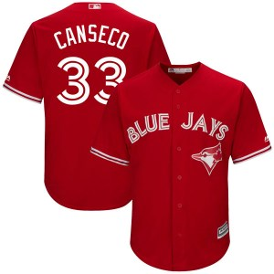 Jose Canseco Toronto Blue Jays Youth Replica Cool Base Alternate Majestic Jersey - Scarlet
