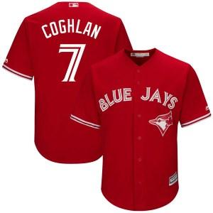 Chris Coghlan Toronto Blue Jays Youth Replica Cool Base Alternate Majestic Jersey - Scarlet