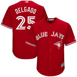 Carlos Delgado Toronto Blue Jays Youth Replica Cool Base Alternate Majestic Jersey - Scarlet