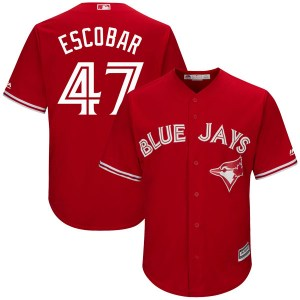 Kelvim Escobar Toronto Blue Jays Youth Replica Cool Base Alternate Majestic Jersey - Scarlet