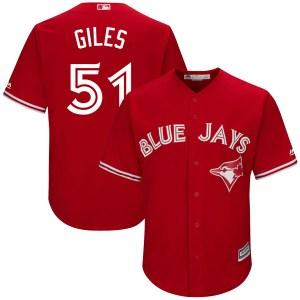 Ken Giles Toronto Blue Jays Youth Replica Cool Base Alternate Majestic Jersey - Scarlet