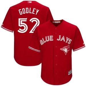 Zack Godley Toronto Blue Jays Youth Replica Cool Base Alternate Majestic Jersey - Scarlet