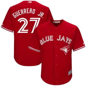 Vladimir Guerrero Jr. Toronto Blue Jays Youth Replica Cool Base Alternate Majestic Jersey - Scarlet