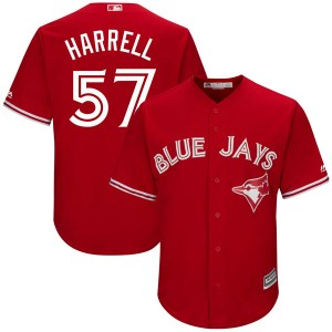 Lucas Harrell Toronto Blue Jays Youth Replica Cool Base Alternate Majestic Jersey - Scarlet
