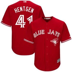 Pat Hentgen Toronto Blue Jays Youth Replica Cool Base Alternate Majestic Jersey - Scarlet