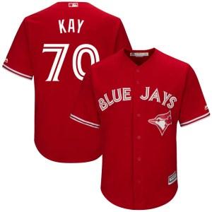 Anthony Kay Toronto Blue Jays Youth Replica Cool Base Alternate Majestic Jersey - Scarlet