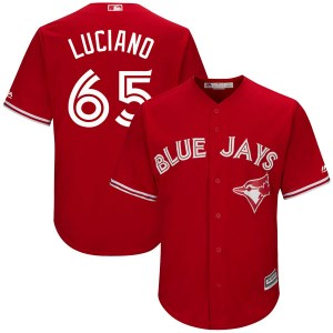 Elvis Luciano Toronto Blue Jays Youth Replica Cool Base Alternate Majestic Jersey - Scarlet