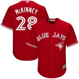 Billy McKinney Toronto Blue Jays Youth Replica Cool Base Alternate Majestic Jersey - Scarlet