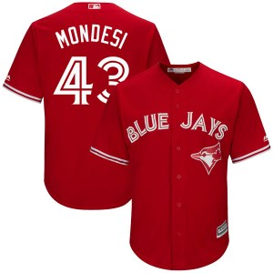 Raul Mondesi Toronto Blue Jays Youth Replica Cool Base Alternate Majestic Jersey - Scarlet