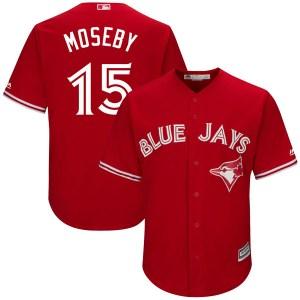 Lloyd Moseby Toronto Blue Jays Youth Replica Cool Base Alternate Majestic Jersey - Scarlet