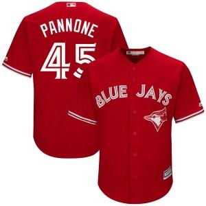 Thomas Pannone Toronto Blue Jays Youth Replica Cool Base Alternate Majestic Jersey - Scarlet