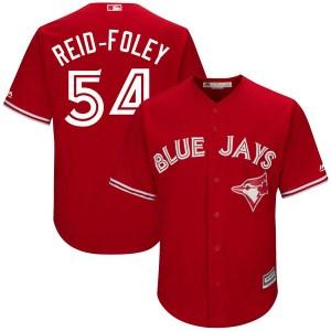 Sean Reid-Foley Toronto Blue Jays Youth Replica Cool Base Alternate Majestic Jersey - Scarlet
