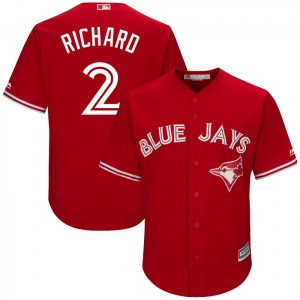 Clayton Richard Toronto Blue Jays Youth Replica Cool Base Alternate Majestic Jersey - Scarlet