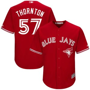 Trent Thornton Toronto Blue Jays Youth Replica Cool Base Alternate Majestic Jersey - Scarlet