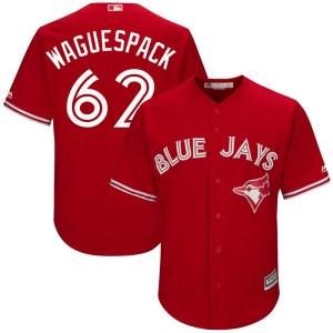Jacob Waguespack Toronto Blue Jays Youth Replica Cool Base Alternate Majestic Jersey - Scarlet