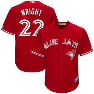 Brett Wright Toronto Blue Jays Youth Replica Cool Base Alternate Majestic Jersey - Scarlet