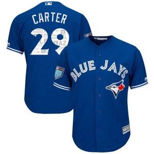 Joe Carter Toronto Blue Jays Youth Authentic Cool Base 2018 Spring Training Majestic Jersey - Royal