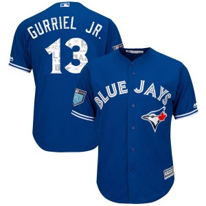 Lourdes Gurriel Jr. Toronto Blue Jays Youth Authentic Cool Base 2018 Spring Training Majestic Jersey - Royal