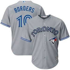 Pat Borders Toronto Blue Jays Youth Replica Cool Base Road Majestic Jersey - Gray