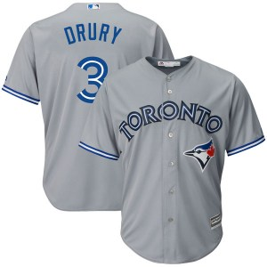 Brandon Drury Toronto Blue Jays Youth Replica Cool Base Road Majestic Jersey - Gray