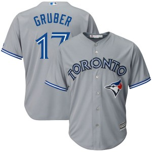 Kelly Gruber Toronto Blue Jays Youth Replica Cool Base Road Majestic Jersey - Gray