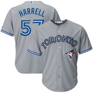 Lucas Harrell Toronto Blue Jays Youth Replica Cool Base Road Majestic Jersey - Gray