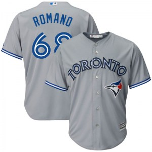 Jordan Romano Toronto Blue Jays Youth Replica Cool Base Road Majestic Jersey - Gray