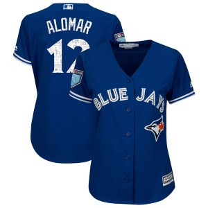 Roberto Alomar Toronto Blue Jays Women's Authentic Cool Base 2018 Spring Training Majestic Jersey - Royal