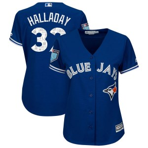 Roy Halladay Toronto Blue Jays Women's Authentic Cool Base 2018 Spring Training Majestic Jersey - Royal