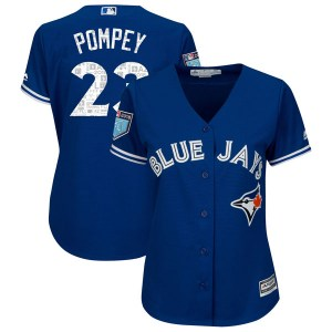 Dalton Pompey Toronto Blue Jays Women's Authentic Cool Base 2018 Spring Training Majestic Jersey - Royal