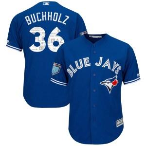 Clay Buchholz Toronto Blue Jays Replica Cool Base 2018 Spring Training Majestic Jersey - Royal