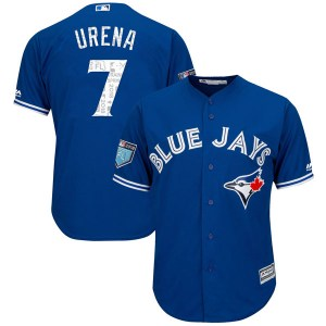 Richard Urena Toronto Blue Jays Replica Cool Base 2018 Spring Training Majestic Jersey - Royal