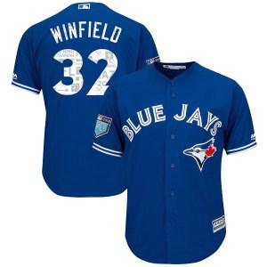Dave Winfield Toronto Blue Jays Replica Cool Base 2018 Spring Training Majestic Jersey - Royal