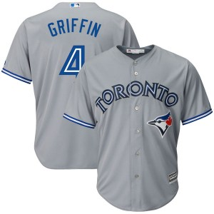 Alfredo Griffin Toronto Blue Jays Replica Cool Base Road Majestic Jersey - Gray