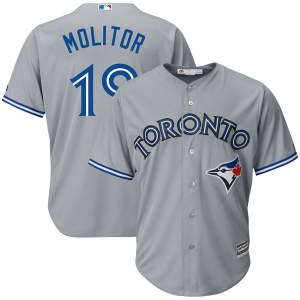 Paul Molitor Toronto Blue Jays Replica Cool Base Road Majestic Jersey - Gray