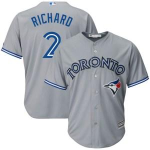 Clayton Richard Toronto Blue Jays Replica Cool Base Road Majestic Jersey - Gray
