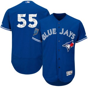 Russell Martin Toronto Blue Jays Authentic Flex Base 2018 Spring Training Majestic Jersey - Royal