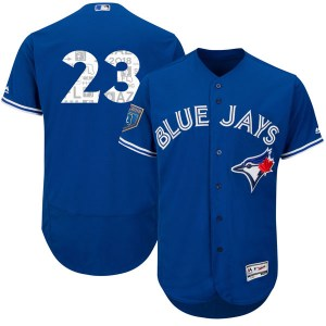 Dalton Pompey Toronto Blue Jays Authentic Flex Base 2018 Spring Training Majestic Jersey - Royal