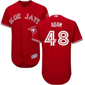 Jason Adam Toronto Blue Jays Youth Authentic Flex Base Alternate Collection Majestic Jersey - Scarlet