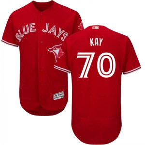 Anthony Kay Toronto Blue Jays Youth Authentic Flex Base Alternate Collection Majestic Jersey - Scarlet