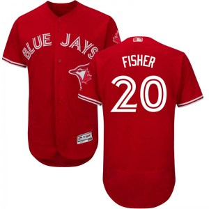 Derek Fisher Toronto Blue Jays Authentic Flex Base Alternate Collection Majestic Jersey - Scarlet