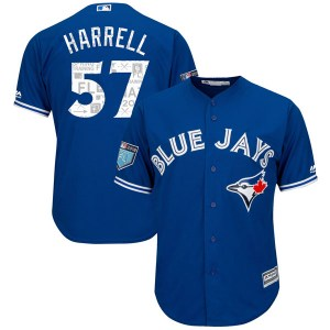 Lucas Harrell Toronto Blue Jays Authentic Cool Base 2018 Spring Training Majestic Jersey - Royal
