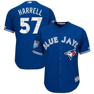 Lucas Harrell Toronto Blue Jays Authentic Cool Base 2018 Spring Training Majestic Jersey - Royal