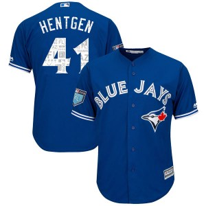 Pat Hentgen Toronto Blue Jays Authentic Cool Base 2018 Spring Training Majestic Jersey - Royal
