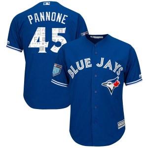 Thomas Pannone Toronto Blue Jays Authentic Cool Base 2018 Spring Training Majestic Jersey - Royal